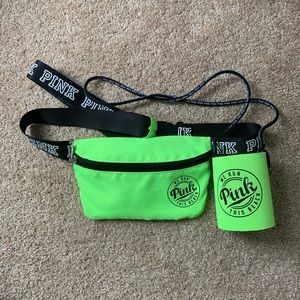 Victoria's Secret PINK fanny pack and koozie